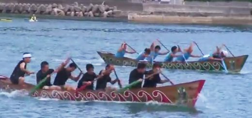 第18回ひらとみ祭り 舟こぎ競争男子の部決勝