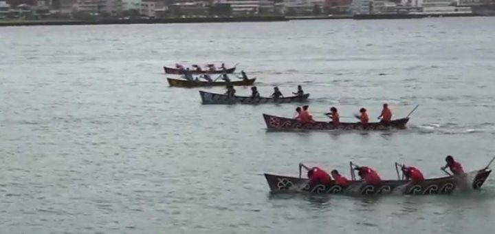 第49回奄美まつり 舟こぎ競争 女子・子ども会の部 決勝レース